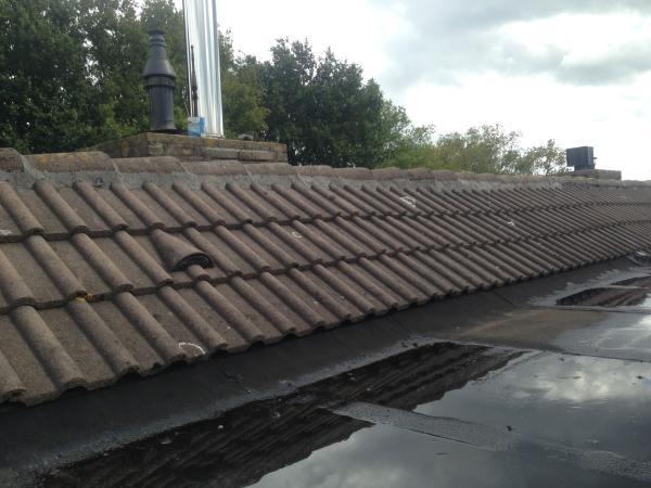 Nokvorsten vastzetten met kunststof dakmortel in Nijmegen