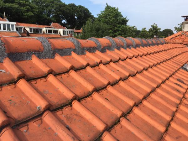 Nokvorsten vastzetten met kunststof dakmortel in Drunen Brabant